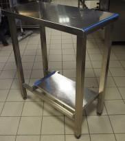 Liten arbeidsbenk i rustfritt stål, 40x80cm, pent brukt