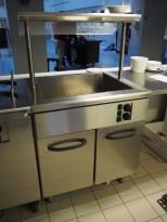 Vannbad / varmebad i rustfritt stål fra Metos, 230v enfas, 80cm bredde, pent brukt