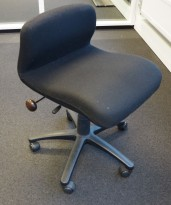 Bioscan Tilt Dorsal ergonomisk kontorstol i sort ullstoff, pent brukt