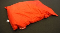 Fatboy i rødt stoff, saccosekk / loungemøbel, pent brukt
