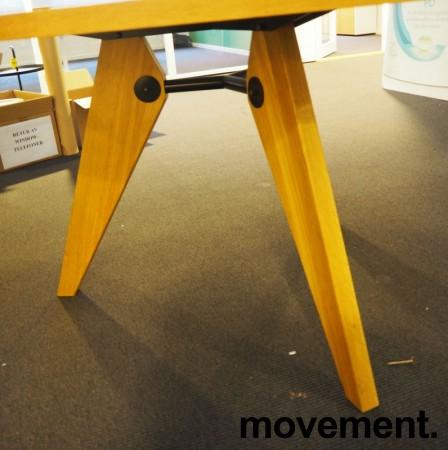 Rundt møtebord / konferansebord / kantinebord i hvitt / eik, Ø=120cm, pent brukt bilde 3