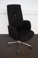 Konferansestol / Styreromsstol fra Savo, XO-serie i sort stoff, pent brukt