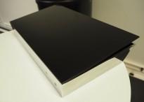 Oppbevaringsboks for tilbehør til whiteboard, Lintex Mood Box, front i sort glass, 40x25cm, vegghengt, pent brukt