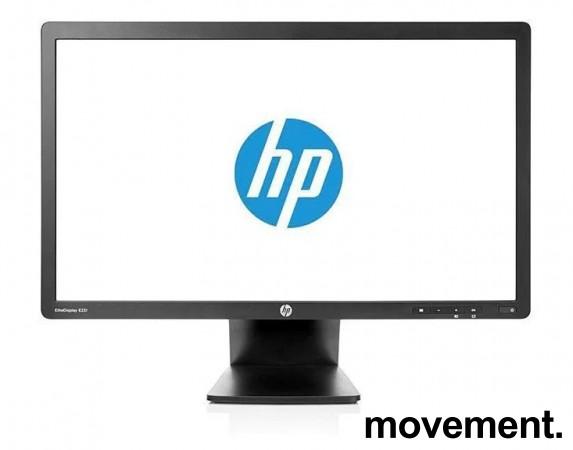 Flatskjerm til PC: HP Elitedisplay E231, LED 23toms, 1920x1080 Full HD, DP/DVI/VGA/USB, tilt, pent brukt bilde 2