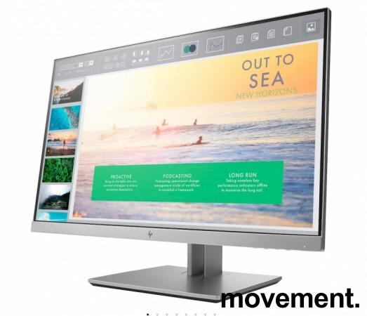 Flatskjerm til PC: HP Elitedisplay E233, LED IPS 23toms, 1920x1080 Full HD, DP/HDMI/DVI/VGA/USB3.0, tilt, pent brukt bilde 1