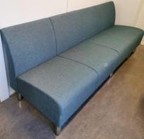 Loungesofa fra Skandiform i turkisgrå, Modell Nonstop, Design: Ruud Ekstrand, 4seter, 208cm bredde, pent brukt