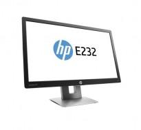 Flatskjerm til PC: HP Elitedisplay E232, LED IPS 23toms, 1920x1080 Full HD, DP/HDMI/VGA/USB, tilt, pent brukt
