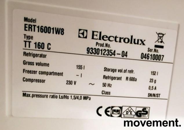 Lite kjøleskap fra Electrolux, SpacePlus ERT16001W8 55cm bredde, 85,5cm høyde, pent brukt bilde 3