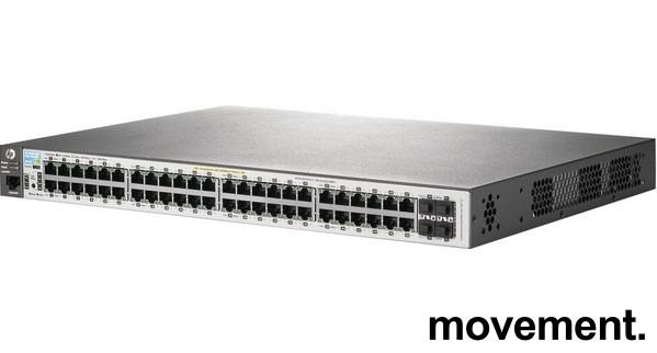 Hewlett-Packard HP Aruba 2530 48G PoE+ Switch Gigabit POE+ 48porter (J9772A), pent brukt bilde 1