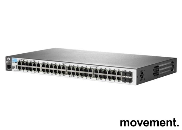 Hewlett-Packard / HP Aruba 2530-48G, J9775a, 48port Managed Gigabit switch, pent brukt