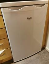 Lite kjøleskap fra Whirlpool, modell RE130A, 55cm bredde, 86cm høyde, pent brukt