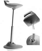 Ergonomisk kontorstol: Aeris - modell Muvman, i grått/grått, pent brukt