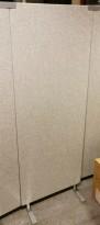 Lyddempende skillevegg i grå ullfilt fra Glimakra, Limbus, B60cm x H160cm, pent brukt