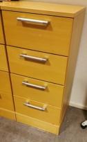 Skuffseksjon / kommode i bøkefiner, Kinnarps Serie-E, 40cm bredde, 91cm høyde, pent brukt