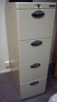 Arkivskap for hengemapper fra Office Line i lys grå, 4 skuffers, 42cm bredde, høyde 132cm, pent brukt