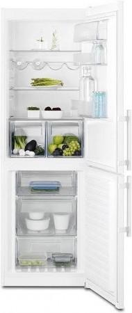 Kjøleskap/kombiskap fra Electrolux i hvitt, 60cm b, 183cm h, modell EN3441JYW, pent brukt bilde 1