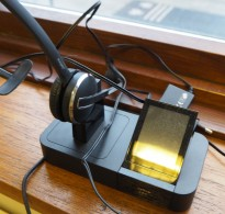 Jabra Pro 9400BS Trådløst Headset med base, for fasttelefon, mobiltelefon og PC, pent brukt