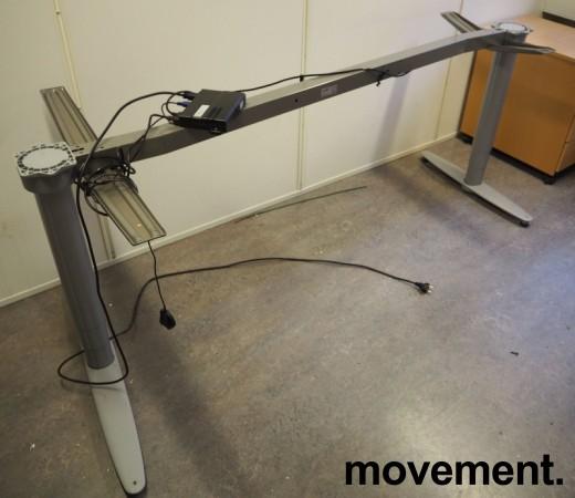 Kinnarps T-serie hevsenk understell for skrivebord, passer plate 200x120cm, venstreløsning, pent brukt bilde 1