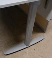 Kinnarps T-serie hevsenk understell for skrivebord, passer plate 200x80cm, pent brukt