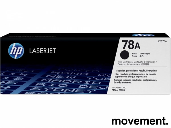 Original HP toner: CE278A (78A) Black til Laserjet Pro P1566, P1606, NY/UBRUKT bilde 1
