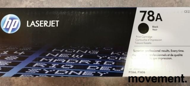 Original HP toner: CE278A (78A) Black til Laserjet Pro P1566, P1606, NY/UBRUKT bilde 2