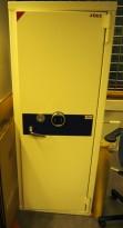 Jøli 160F safe / verdiskap med kodelås, bredde 62,5cm, høyde 160cm, pent brukt