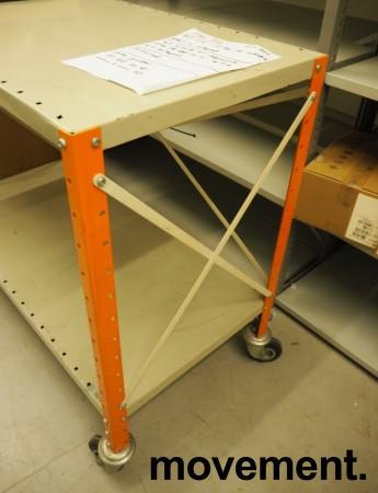 Tralle / trillebord / trillevogn i stål med 2 hylleplan, 100x51cm, pent brukt bilde 3