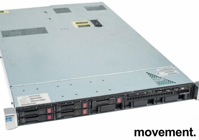 Rackserver 1units, HP Proliant DL360p Gen8, 2x Xeon E5-2620v2 2,1GHz, 16GB / 2xPSU, pent  brukt bilde 4