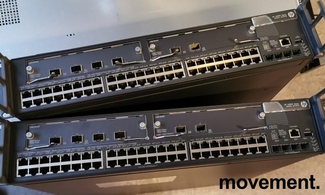 Hewlett-Packard HPE A5800 Managed 48port switch JC101A, med 4+2 10Gb uplink, pent brukt bilde 3