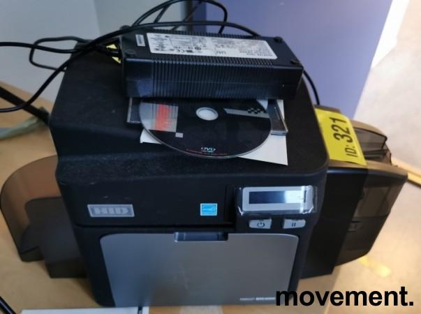 Kortskriver for adgangskontroll: HID Fargo DTC4000, USB, pent brukt bilde 2