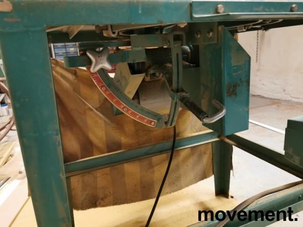 Eldre Gjerde-sag i grønnlakkert metall, godt brukt bilde 3