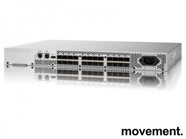 HP StorageWorks 8/24 8Gb Fibre Channel Managed SAN Switch 16Active Ports AM868C, pent brukt bilde 1