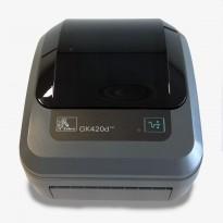 Zebra EDI-skriver / etikettskriver GK420d med USB, NY I ESKE