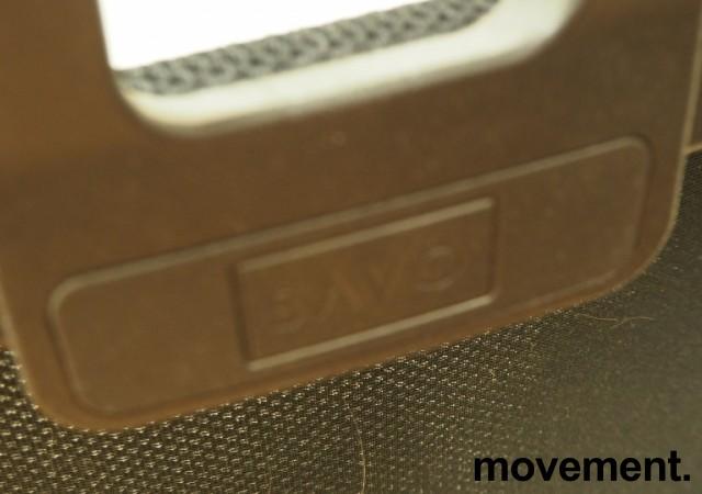 Kontorstol fra Savo: Savo Soul, sort sete, mesh rygg, nakkepute, armlener, sort kryss, pent brukt bilde 3