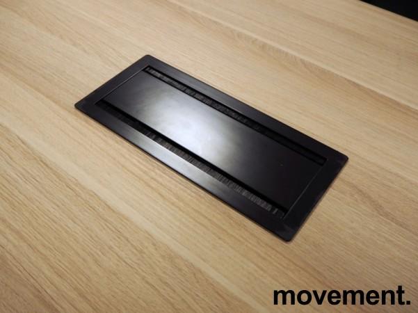 Kompakt møtebord i eik laminat / sort, Kinnarps SERIES[E]ONE, 180x90cm, passer 6personer, pent brukt bilde 3