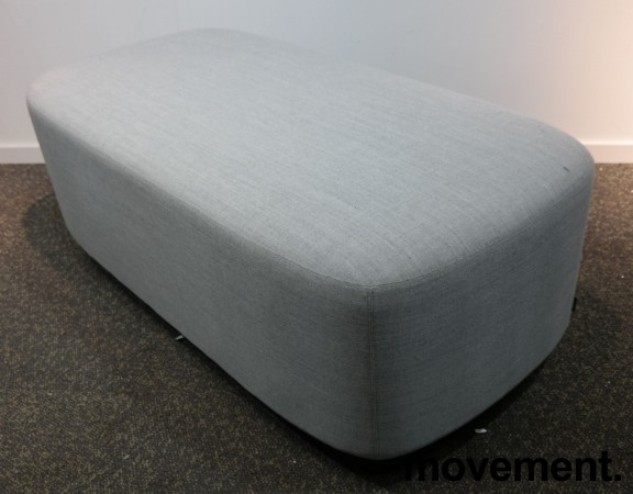 2-seter sittepuff i grått Remix-stoff fra Kinnarps, Fields serie, 120x60cm, pent brukt bilde 1