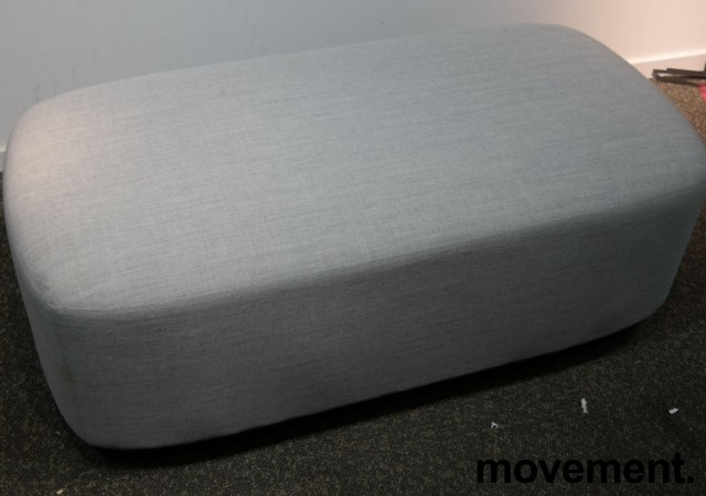 2-seter sittepuff i grått Remix-stoff fra Kinnarps, Fields serie, 120x60cm, pent brukt bilde 2