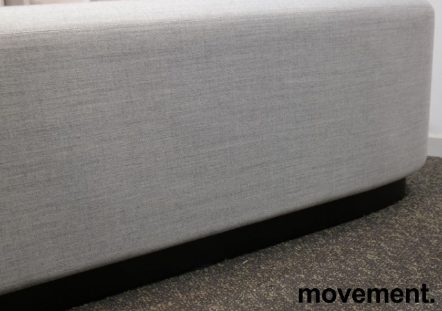 2-seter sittepuff i grått Remix-stoff fra Kinnarps, Fields serie, 120x60cm, pent brukt bilde 4