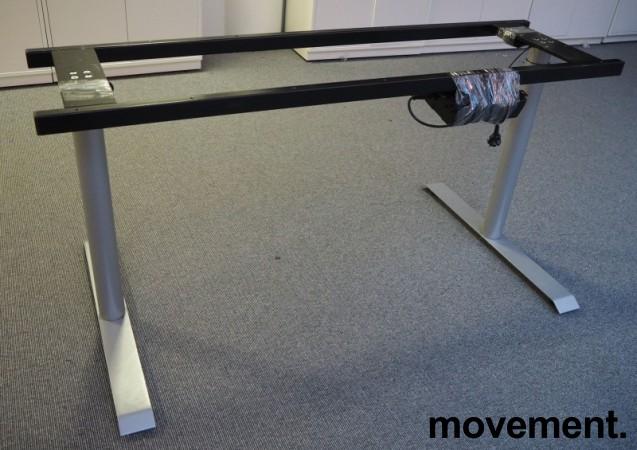 Understell for skrivebord med elektrisk hevsenk, passer plater 160cm, pent brukt bilde 1