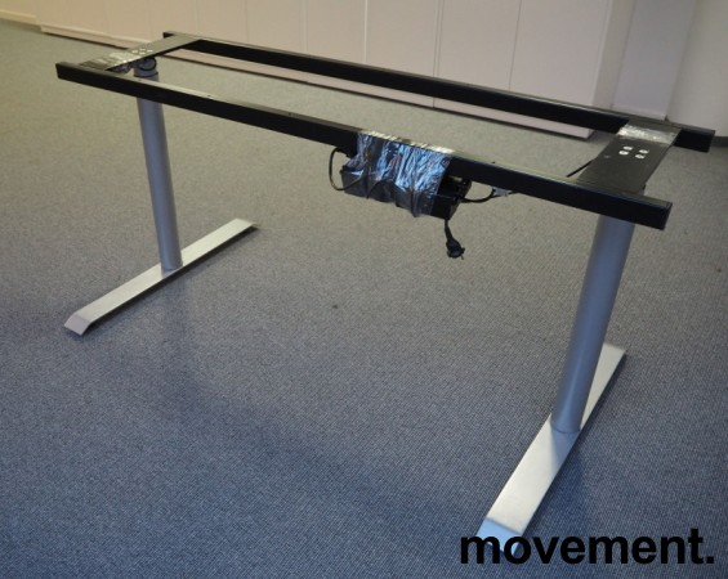 Understell for skrivebord med elektrisk hevsenk, passer plater 160cm, pent brukt bilde 2