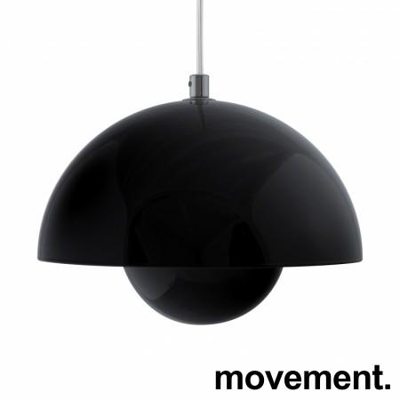 Taklampe / pendellampe i sort fra &Tradition, Flowerpot VP1, Design: Verner Panton, pent brukt bilde 5