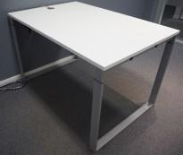 Lite møtebord / konferansebord i hvitt / grått fra Fumac, modell Frame Quick, 120x80cm, pent brukt