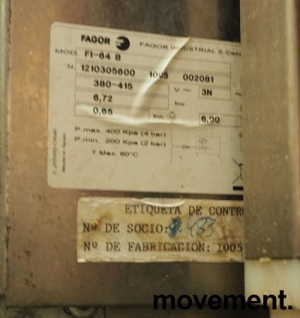 Fagor FI-64B Oppvaskmaskin for storkjøkken, 400v 3 fas, brukt bilde 2