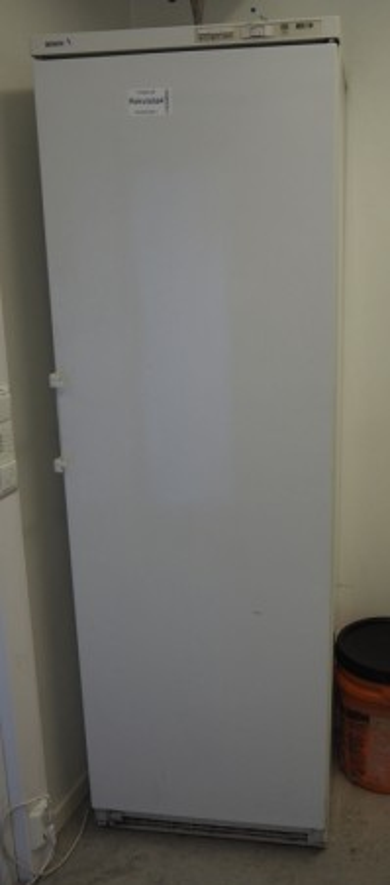 Eldre Bosch frittstående fryseskap i hvitt, høyde 185, brukt bilde 1
