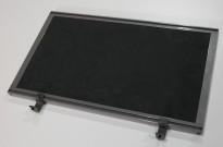Bordskillevegg i mørk grå mikrofiberstoff, Kinnarps Rezon, 60x35cm, pent brukt