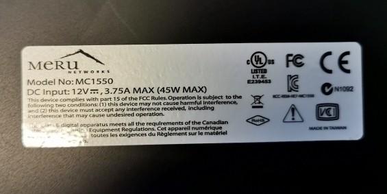 Meru (Fortinet) trådløst WLAN med MC1550 wifi-controller, og 21stk nye AP1020e AP'er bilde 3