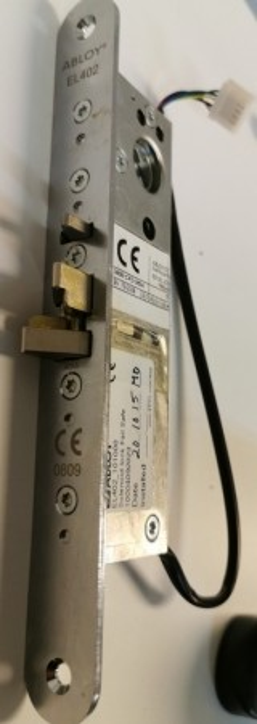 Assa Abloy solenoidlås / elektrisk sluttstykke til dørblad, EL402, pent brukt bilde 2