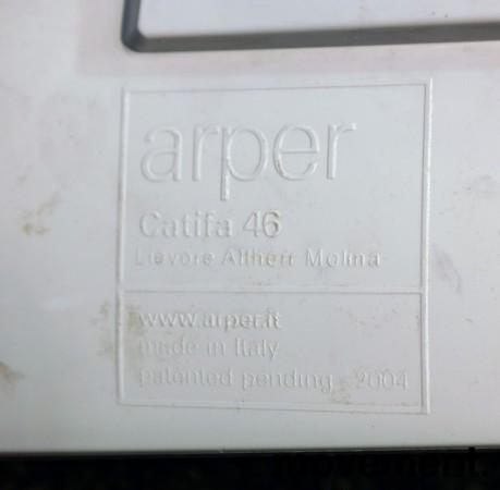 Arper Catifa 46, stablebar design-stol i hvit plast / krom, pent brukt bilde 3