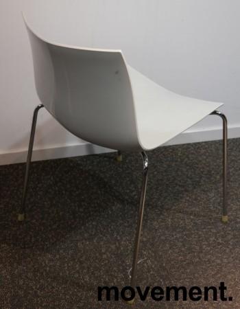 Arper Catifa 46, stablebar design-stol i hvit plast / krom, pent brukt bilde 2