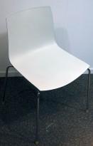 Arper Catifa 46, stablebar design-stol i hvit plast / krom, pent brukt